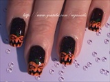 Nailart: Evil halloween pumpkins