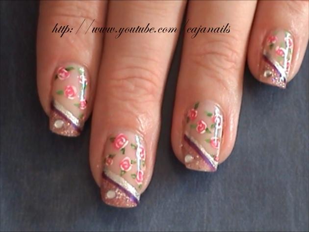 Nailart vintage roses nail art gallery nailart vintage roses prinsesfo Gallery