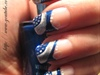 Nailart: Abstract Blue/Silver New Year