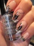 Nail art: Foil butterfly