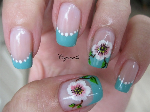 Nail Art One Stroke Flower on