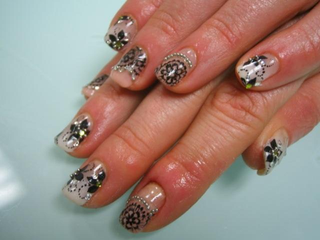 Gel nails w paint and 3d nail art - Nail Art Gallery