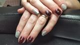 #calgeluk#calgeloverlays#boysenberry with silver glitter and gems