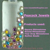 Peacock Rhinestone Jewels