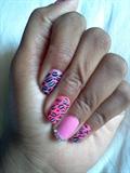 Baby Pink & Blue Leopard Design!!