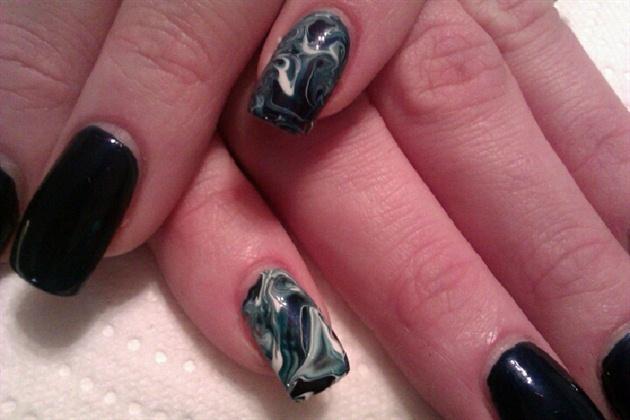 Дизайн ногтей под мрамор