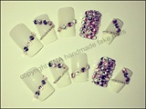 Pink Swarovski French Manicure