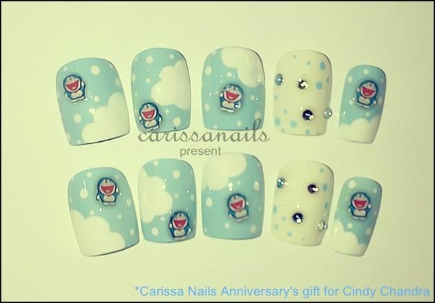 Doraemon Fimo Nails