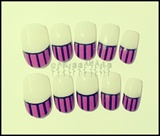 Pink Stripes Nail French