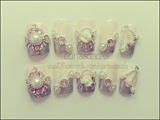 Pink Wedding Elegant Nails
