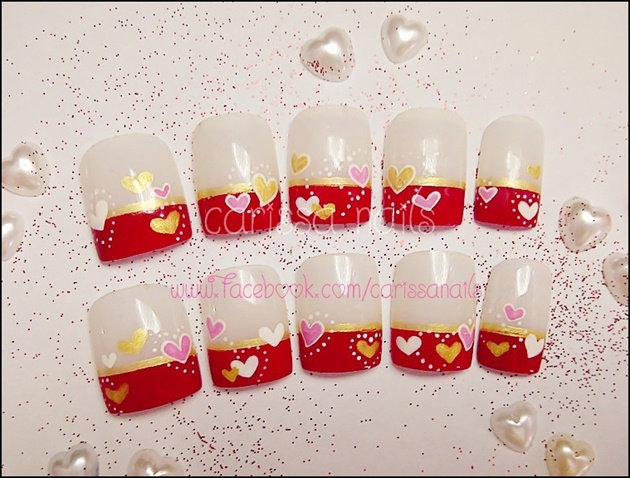 Valentine Nails (Robin Moses inspiration