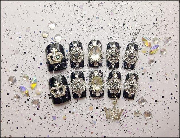 Black Glamour Nails