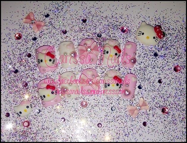 Hello Kitty Pink Nails