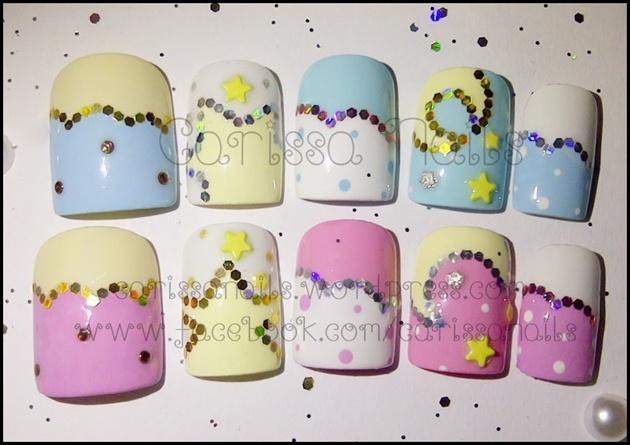 Moon & Star Pastel Nails