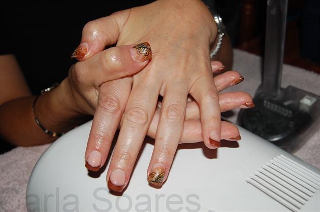 Autumn Nails - NailArt Gold n' Brown
