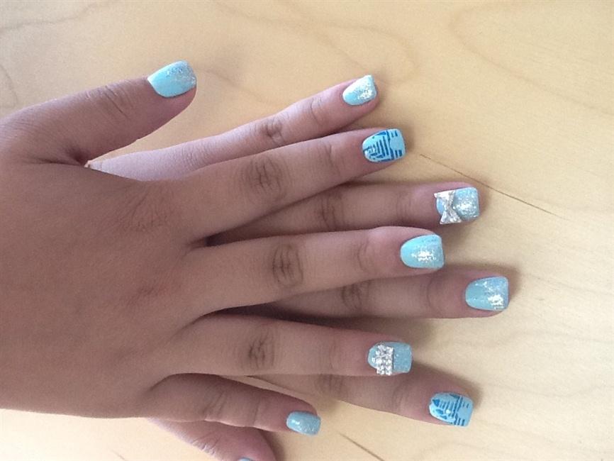 Cinderella Themed Nail Art Gallery