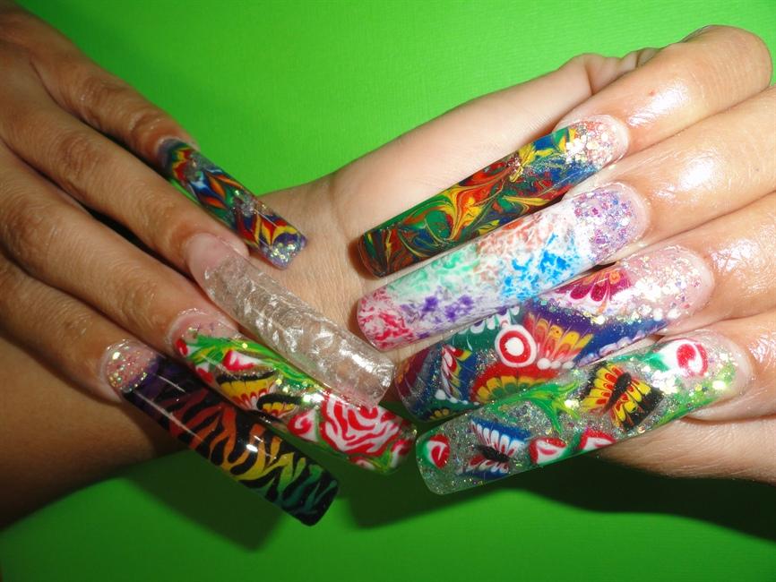 Colored Gel Nail Design - Nail Art Gallery