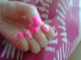pink & white line