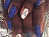 Romantic Royal Bleu Nails