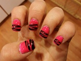 Hot pink half zebra