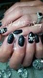 matte black skulls