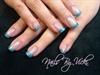 Aqua-Blue Glitter Tips