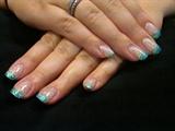 Glitter Confetti French Fade