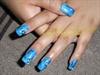 mármol de agua azul