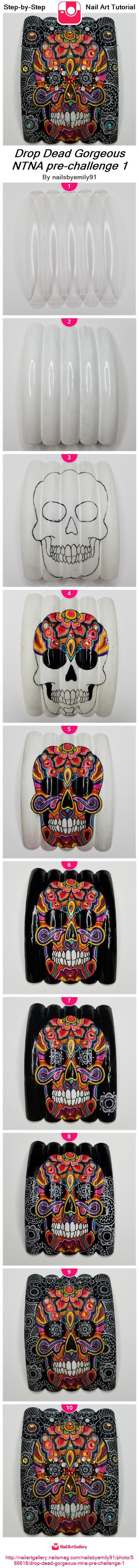 Drop Dead Gorgeous NTNA pre-challenge 1 - Nail Art Gallery