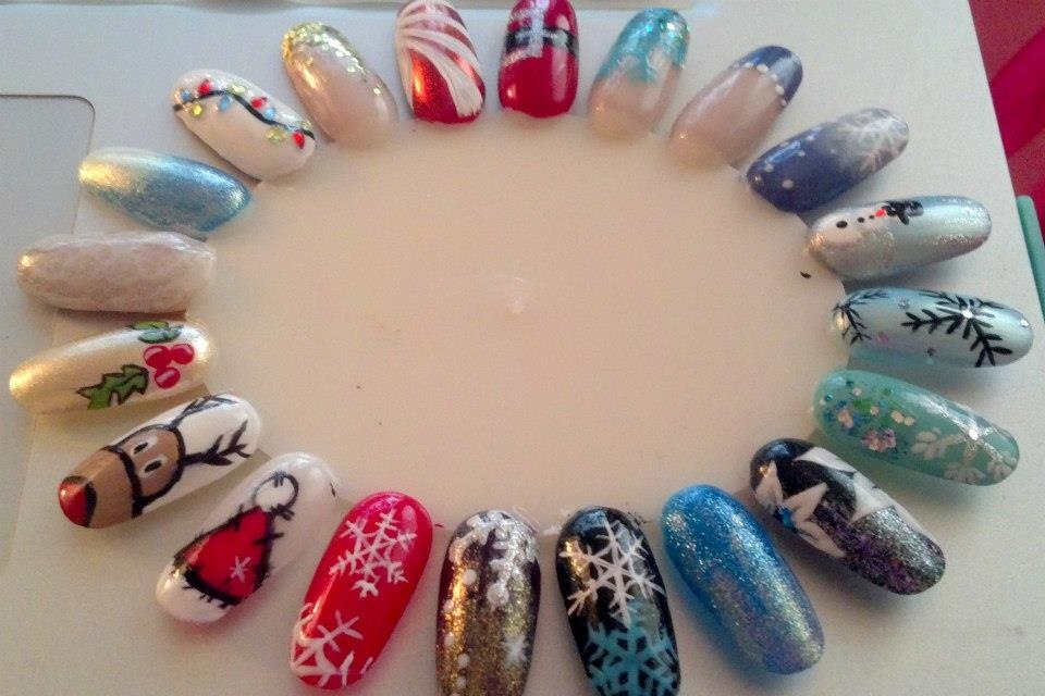 Christmas nail art wheel nail art gallery prinsesfo Image collections