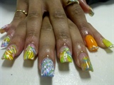 cece's free hand nail art!