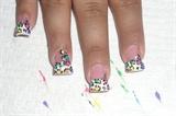 cheetah rainbow free hand