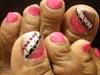 Abstract toe art
