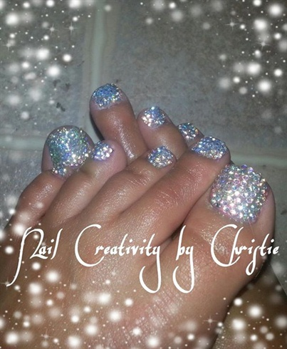 swarovski crystal pedicure