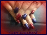 Red Glitter & Blue Matte