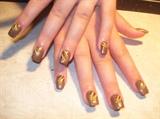 Acrylic w nail art