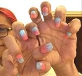 Ombré Nails Pink Blue