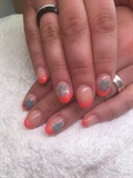 French Neon Orange mit Airbrush