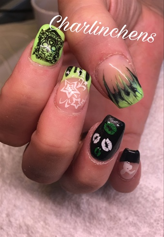 Black And Neon Green