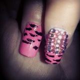 pink zebra gems