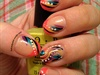 Rainbow Gelish Swirls