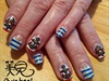 Gelish Nautical Manicure