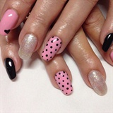 Pink And Black Polka Dot