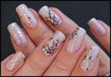 Nail art toile d'araignée