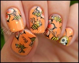 Nail art abeilles