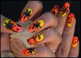 Nail art palmier dégradé