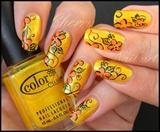 Nail art fleurs acidulées