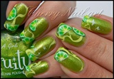 Nail art citron au one stroke