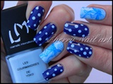Nail art pois et noeud aquarelle