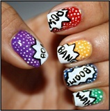 Comin Pop Nail Art Design